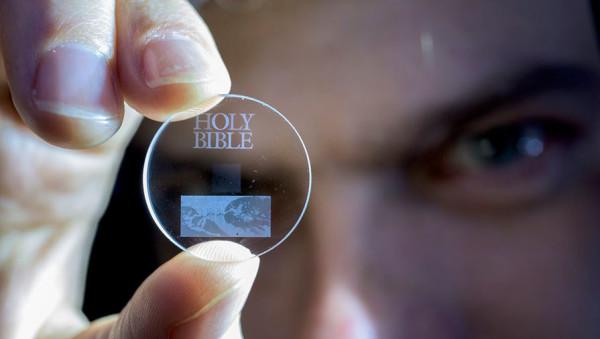 Накопители данных из стекла