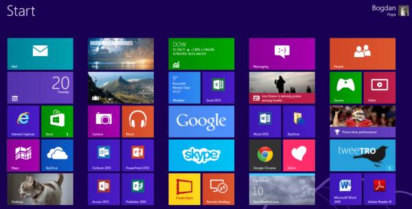 Windows 8 будет ориентирована на работу на мобильных компьютерах