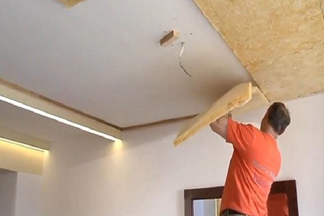 монтаж-минваты-на-потолок