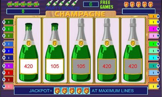 Игровой автомата онлайн Вечеринка с Шампанским - классика в казино